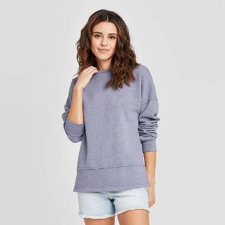 Women's Fleece Tunic Sweatshirt - Universal Thread™ Blue L