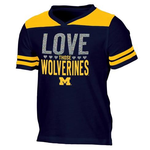 Michigan Wolverines Girls  Short Sleeve Team Love V-Neck T-Shirt XS. Shop  all NCAA 25318a576