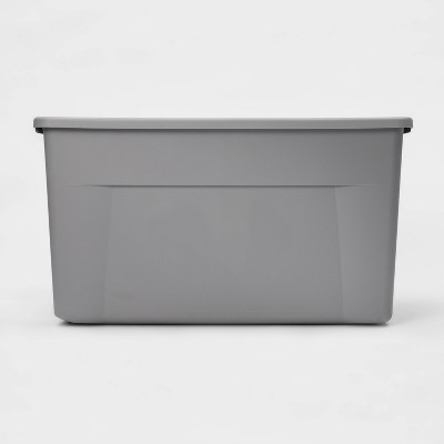 45gal Latching Wheeled Tote Gray - Room Essentials™