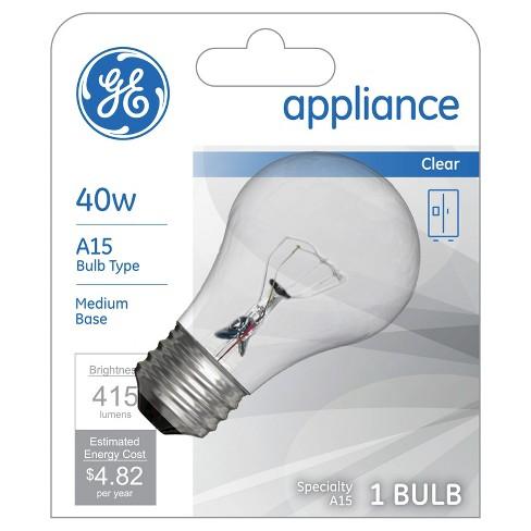 Ge 40 Watt A15 Appliance Incandescent Light Bulb Target