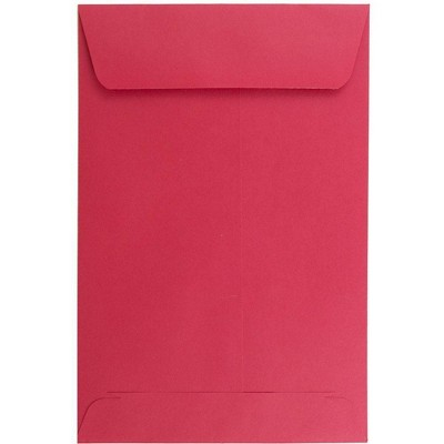JAM Paper 50pk 6 x 9 Open End Catalog Recycled Envelopes - Red