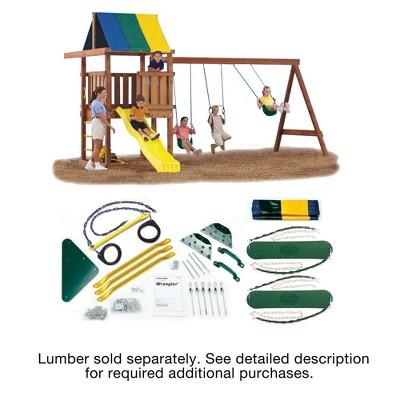 Swing-N-Slide Wrangler DIY Playset Hardware Kit (Wood and Slide not included)