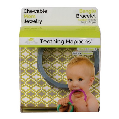 Itzy Ritzy Teething Happens™ Chewable Mom Jewelry - Bangle - Gray