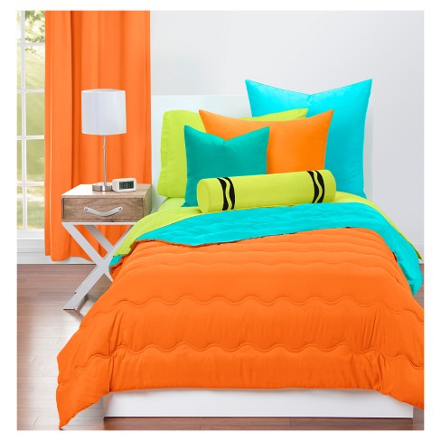 Crayola Outrageous Orange And Turquoise Comforter