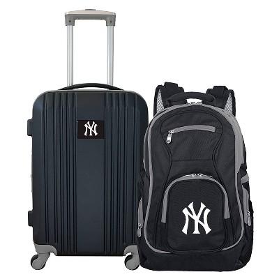 MLB New York Yankees 2 Pc Carry On Luggage Set