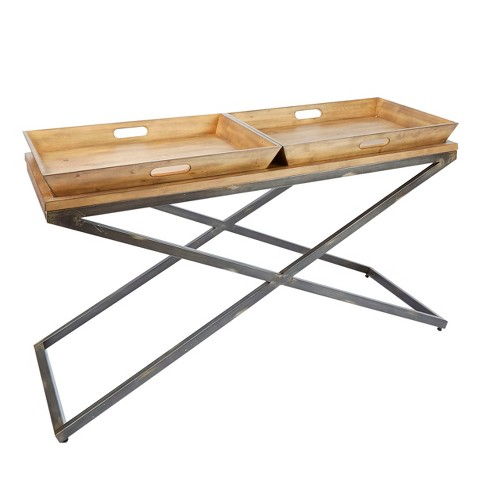 Calhoun Industrial Collection Console Table - Pine Wood Finish - Silverwood - image 1 of 4