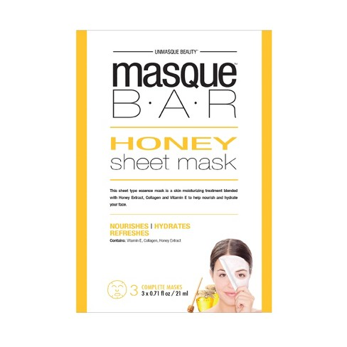 Masque Bar™ by Look Beauty™ Honey Face Sheet Mask - 3 ct - image 1 of 1