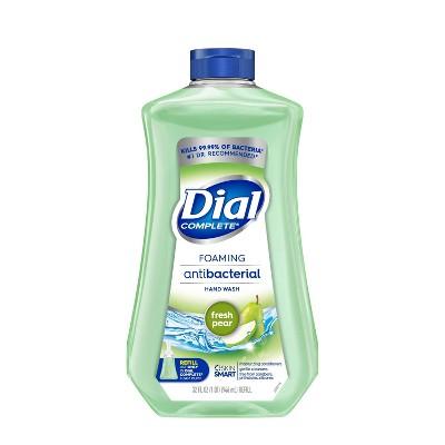 Dial Complete Antibacterial Foaming Hand Wash Refill - Fresh Pear - 32 fl oz