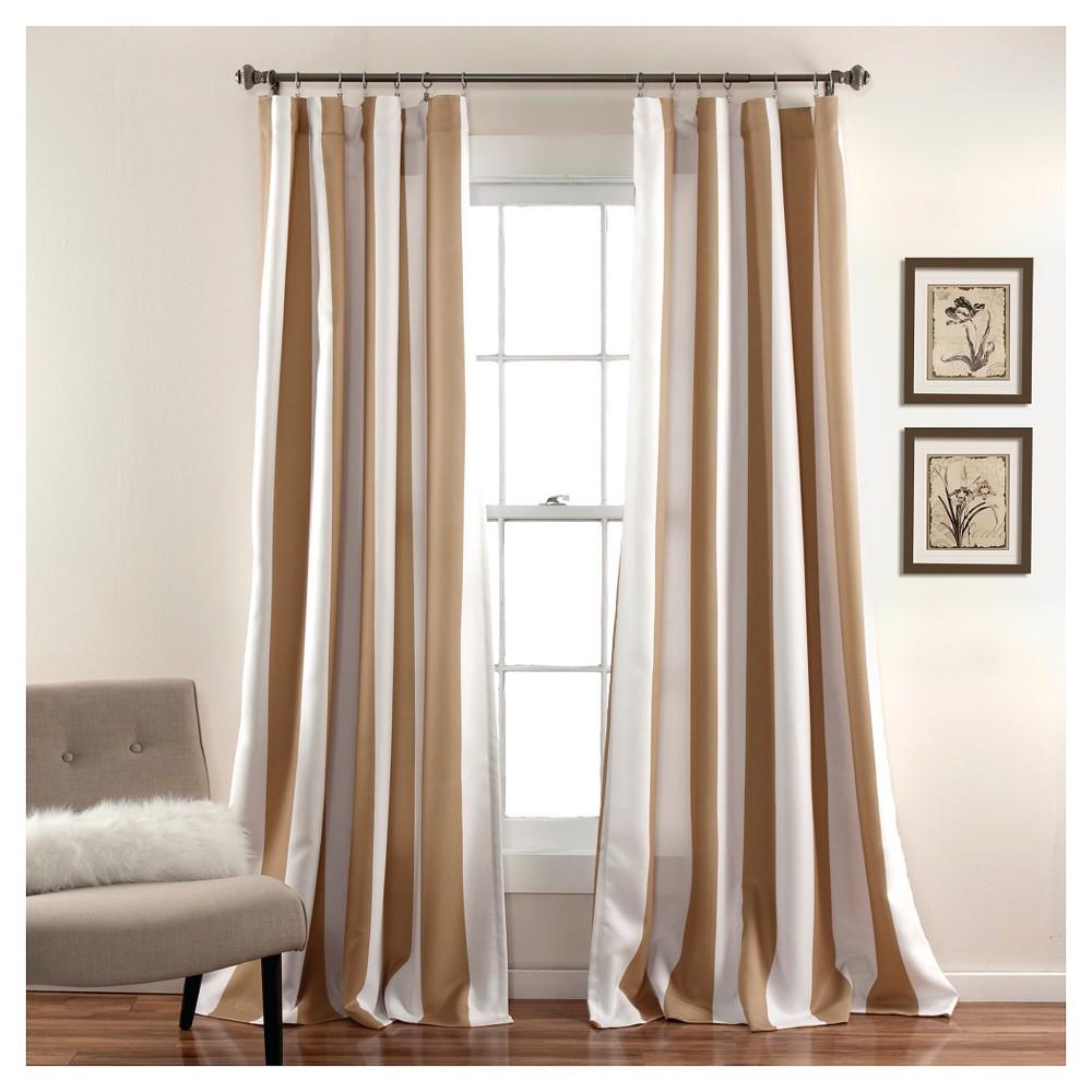 Wilbur Curtain Panels Room Darkening - Set of 2 - Taupe, Brown/White