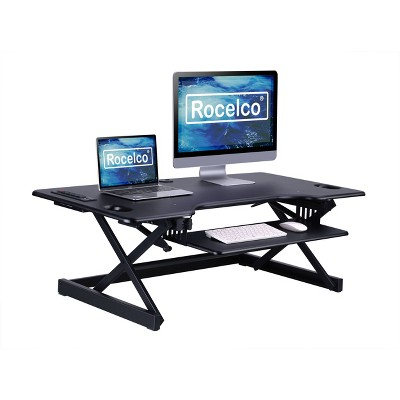 """46"""" Adjustable Height Standing Desk Converter Black - Rocelco"""