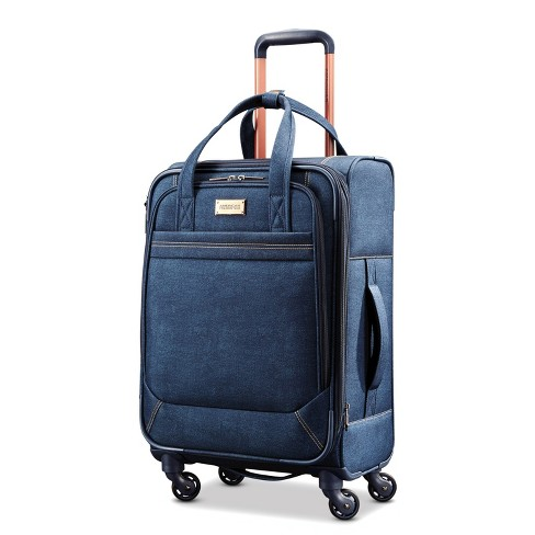"American Tourister Belle 21"" Carry On Suitcase - Denim Blue - image 1 of 12"