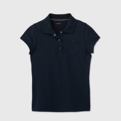 Girls' Adaptive Short Sleeve Polo Shirt - Cat & Jack™ Navy