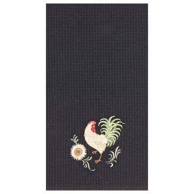 C&F Home Harvest Rooster Waffle Weave Embroidered Cotton Kitchen Towel