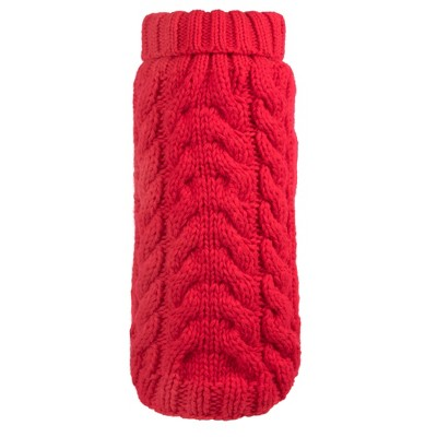 The Worthy Dog Hand Knit Turtleneck Pullover Sweater