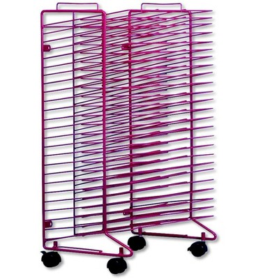 Sax Stack-a-Rack Drying Rack, Red, Powder Coated, 30 x 21 x 17 Inches