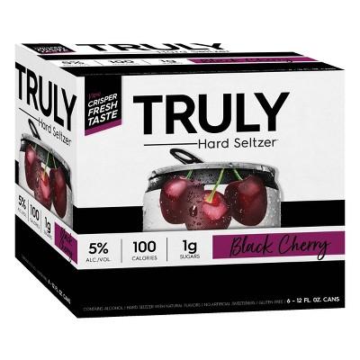Truly Hard Seltzer Black Cherry - 6pk/12 fl oz Cans