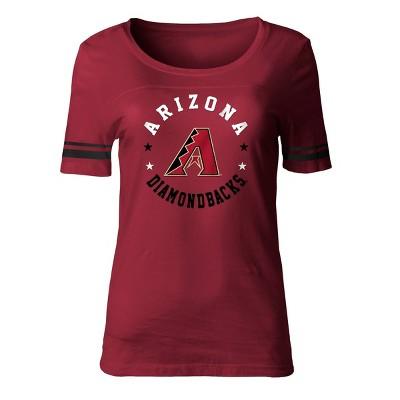 MLB Arizona Diamondbacks Women's Poly Rayon Fashion T-Shirt