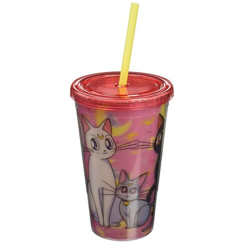 """Just Funky Sailor Moon """"Kitties"""" Lenticular 16oz Carnival Cup - image 1 of 1"""
