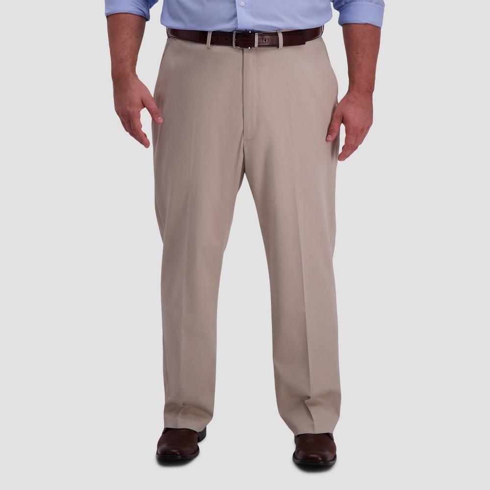 Top Haggar Men's Big & Tall Premium No Iron Classic Fit Flat Front Casual Pants -