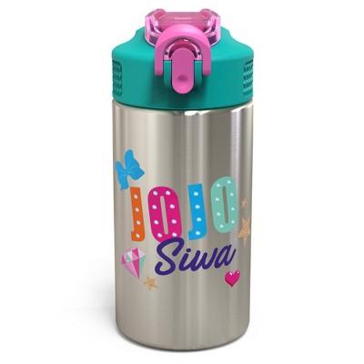 JoJo Siwa 15.5oz Stainless Steel Water Bottle Green/Pink - Zak Designs