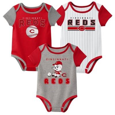 MLB Cincinnati Reds Baby Boys' 3pk Bodysuit Set