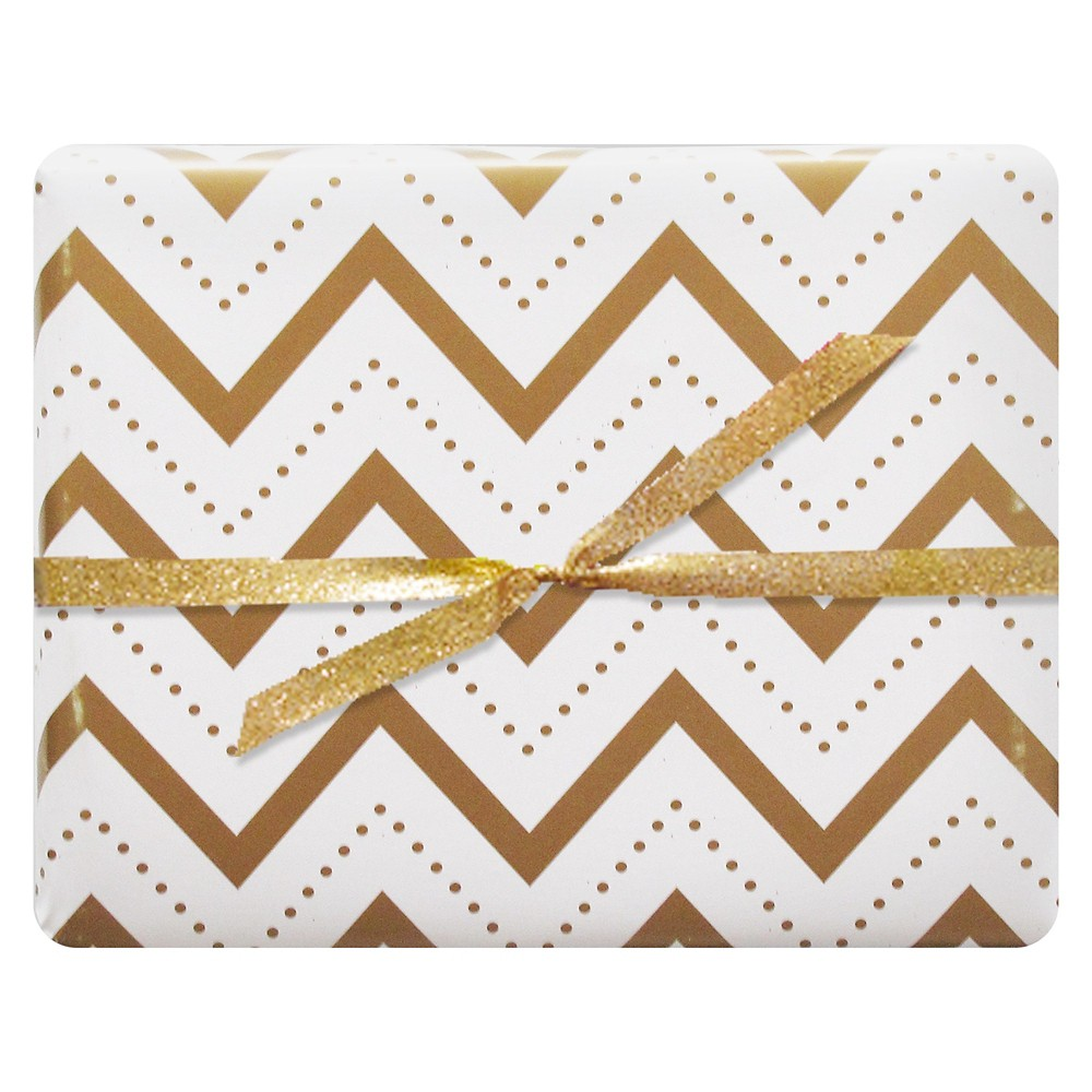 meant to be sent Chevron Stitch Luxe Gift Wrap 3 ct, Multi-Colored