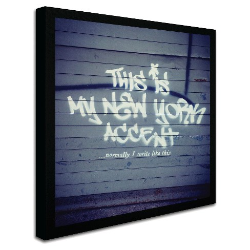 My New York Min\' by Banksy Ready to Hang Canvas Wall Art : Target