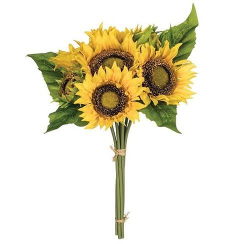 Sunflower Bouquet Stem 15 5 H Yellow