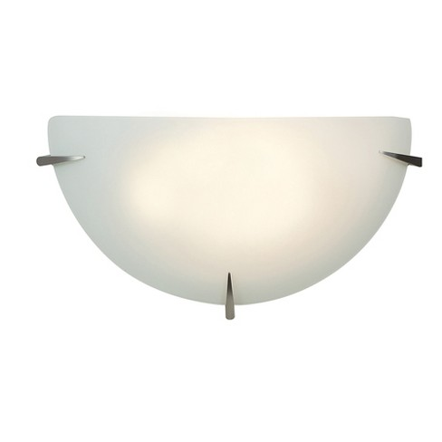 Access Lighting Zenon Dimmable Led Wall Sconce Brushed Steel Finish Opal Gl Diffuser Lights Silver