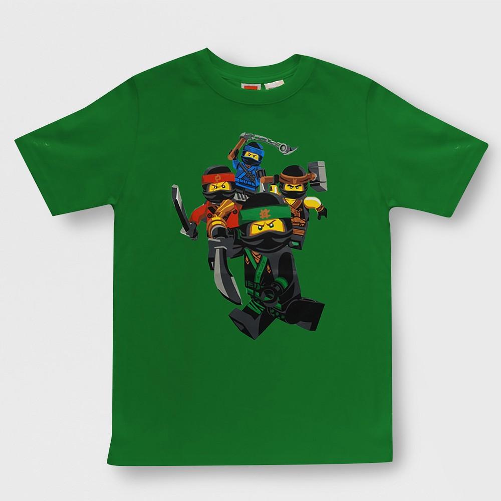 Boys' Lego Ninjago Short Sleeve Graphic T-Shirt - Green M
