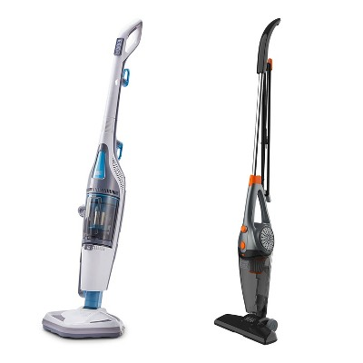 Black and Decker HEPA Corded Steam Mop and Vacuum Cleaner Combination Duo Bundle with 3 In 1 Convertible Corded Upright Handheld Vacuum Cleaner