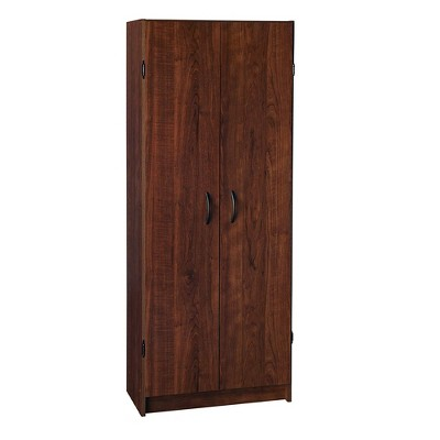 ClosetMaid 1308 Freestanding Kitchen Laundry Utility Room StorageOrganization Pantry Cabinet, Dark Cherry