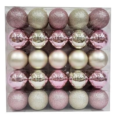 50ct Ornament Set 70mm Blush/Champagne - Wondershop™