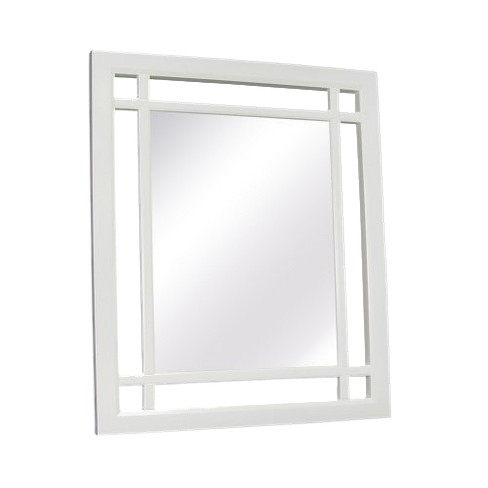 Square Neal Decorative Wall Mirror White - image 1 of 2