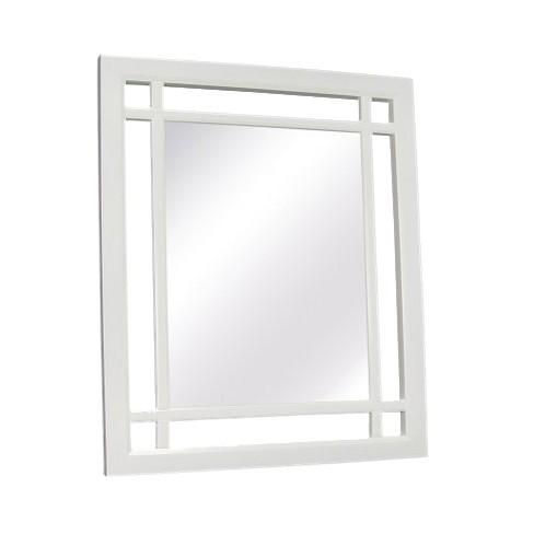 Square Neal Decorative Wall Mirror White