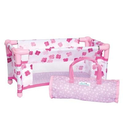 "Manhattan Toy Baby Stella Take Along Baby Doll Crib Accessory Set for 15"" Dolls"