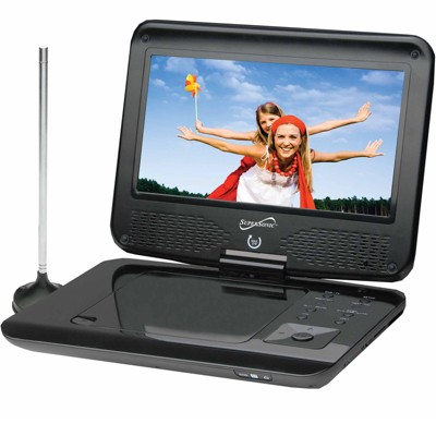 Supersonic SC-259 9in TFT Portable DVD Plater with TV Tuner