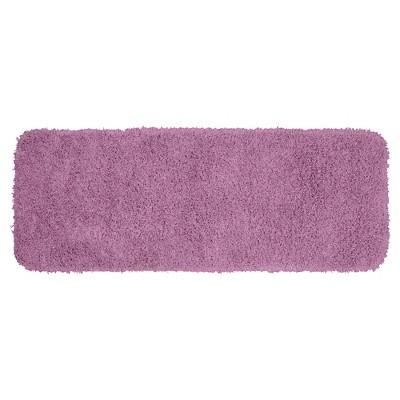 "22""x60"" Jazz Shaggy Solid Washable Nylon Bath Runner Purple - Garland"