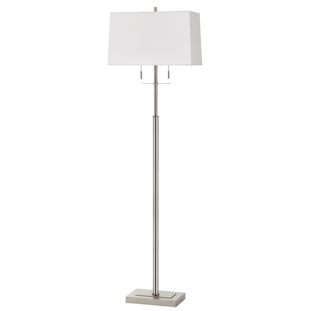 60W X 2 Norwich Metal Floor Lamp With Fabric Shade (Lamp Only) - Cal Lighting, Multi-Colored