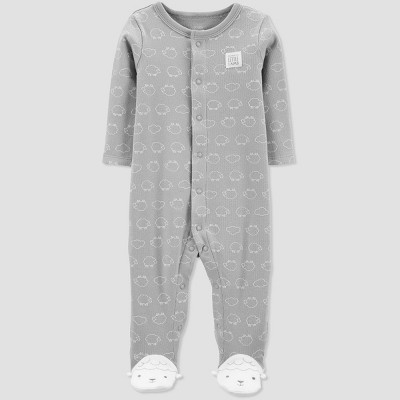 Baby Sheep Sleep 'N Play One Piece Pajama - Just One You® made by carter's Gray Newborn