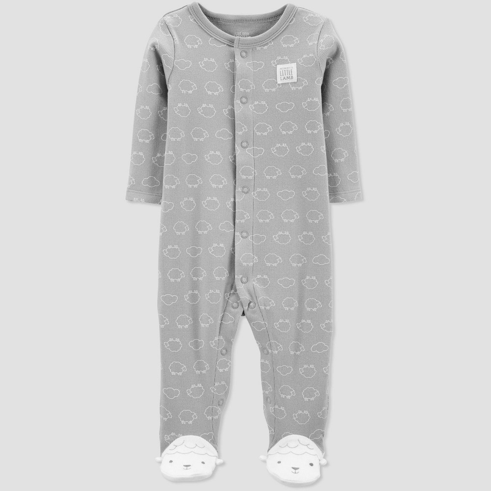 Baby Sheep Sleep 'N Play One Piece Pajama - Just One You made by carter's Gray 9M, Infant Unisex