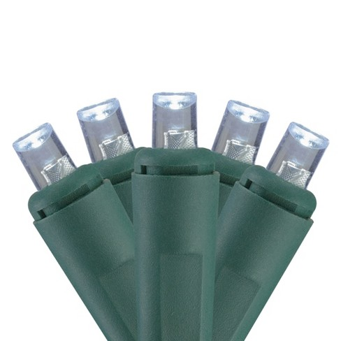 Brite Star 100ct LED Wide Angle Christmas Lights White - 33' Green Wire - image 1 of 3