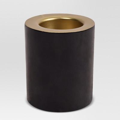 Enameled Candle Holder - Black/Gold - Project 62™