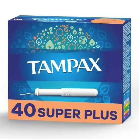 Tampax Cardboard Super Plus Absorbency Anti-Slip Grip LeakGuard Skirt Tampons - Unscented - 40ct - image 1 of 4