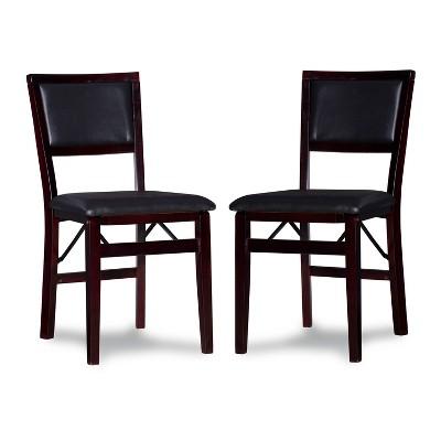 2pc Claire Folding Chair Espresso - Linon