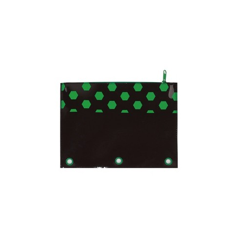 Jelly Binder Pencil Pouch Black Hexagonal - Up&Up™ - image 1 of 1