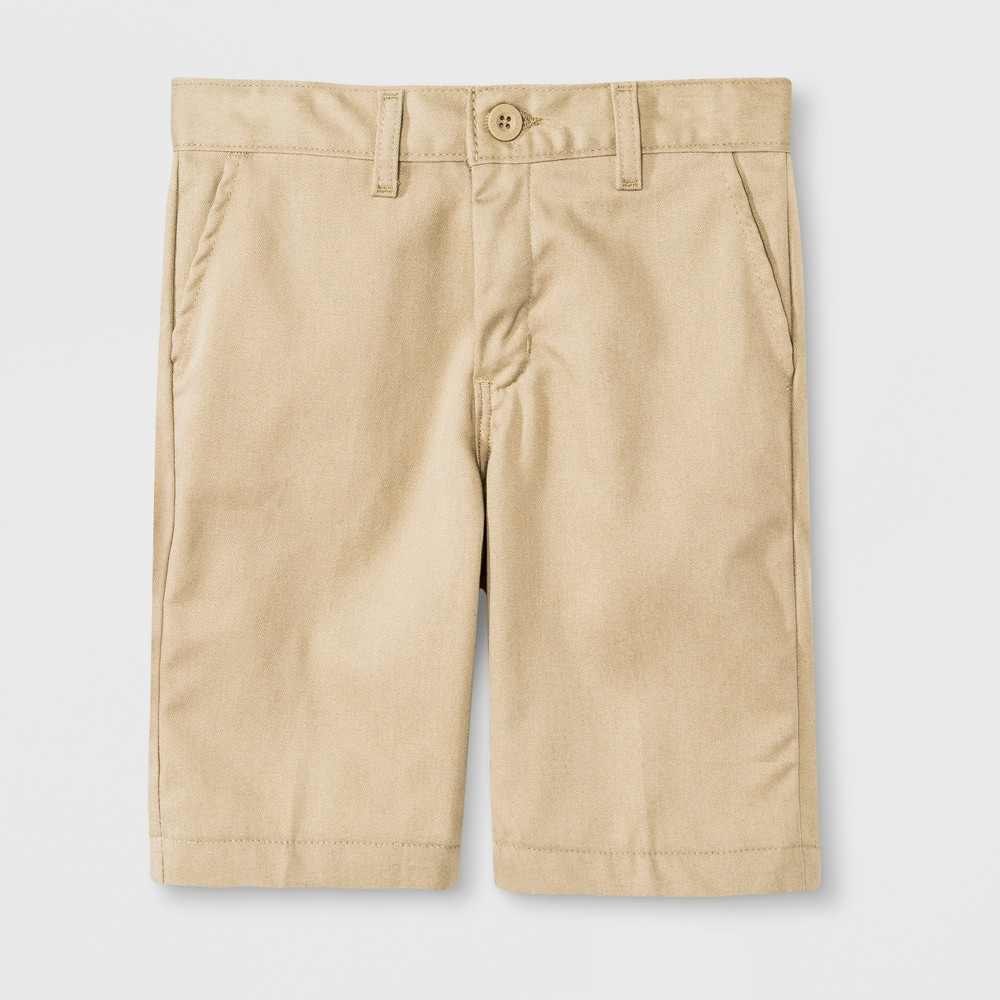 Dickies Boys' Slim Fit Flat Front Shorts - Desert Sand 18