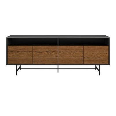 "Up To 70"" Tyner Tv Stand For Tvs Black Oak - Room & Joy"
