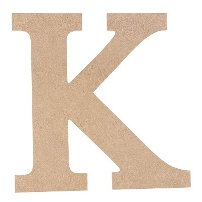 Juvale Unfinished Wooden Alphabet Letters for Home Wall Decor, Greek Letter K for Kappa (11.6 in.)
