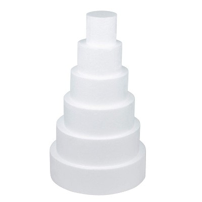 Round Foam Cake Dummies, 23.25 Inches Tall (6 Pieces)